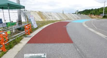 薄層カラー舗装(滑り止め)・路面カラー化