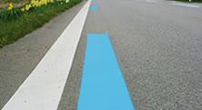 道路区画線(カラーライン引き)