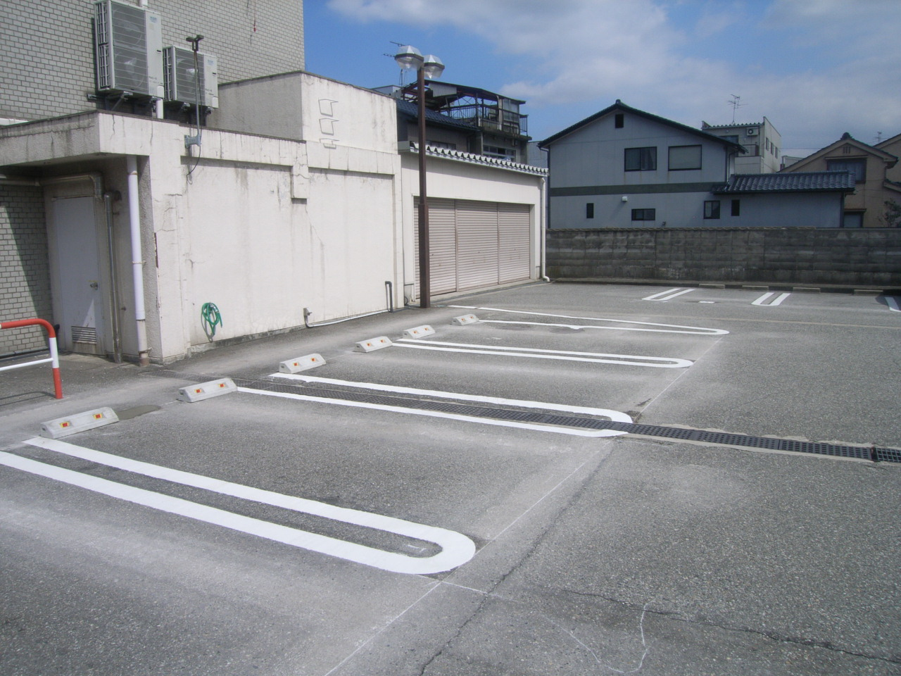 駐車場・白線ライン引き施工事例2