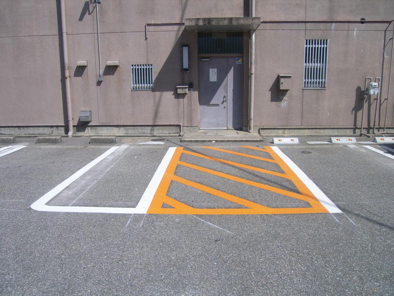 駐車場・白線ライン引き施工事例3