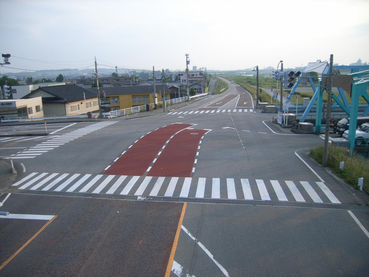 薄層カラー舗装(滑り止め)・路面カラー化 施工事例9