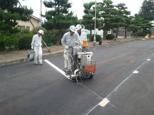 駐車場・白線ライン引きの道路施設株式会社画像