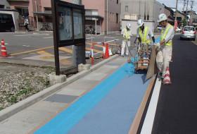 道路のカラー塗装