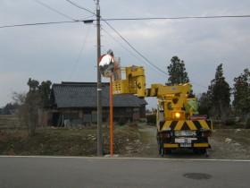 道路のカーブミラー設置