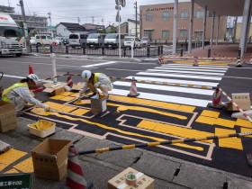道路の視覚障害者誘導用標示(点字)